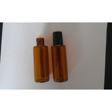 10ml Tubular Amber Mini Glass Vials for Cosmetic Packing